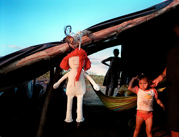 photograph: child orphaned by Nicaragua's Hurricane Mitch
